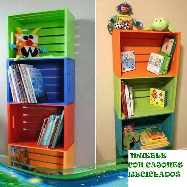 Mueble para ni os con cajones reciclados aprendamos a - Mueble para cd ...