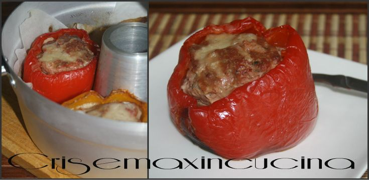 i peperoni ripieni, un piatto unico sano e saporito, il tutto cotto nel fornetto Versilia a fuoco basso proprio come facevano le nostre nonne.