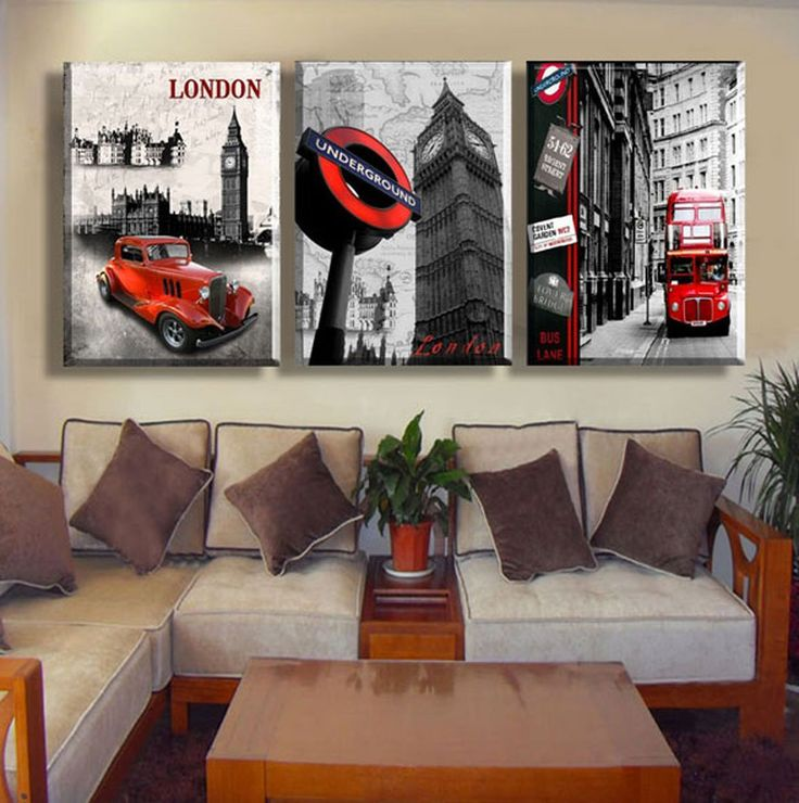 Hot Sell 3 Panels 40 X 60 Cm Modern Wall Painting London City Picture Home  Decorative Art Picture Paint On Canvas Prints