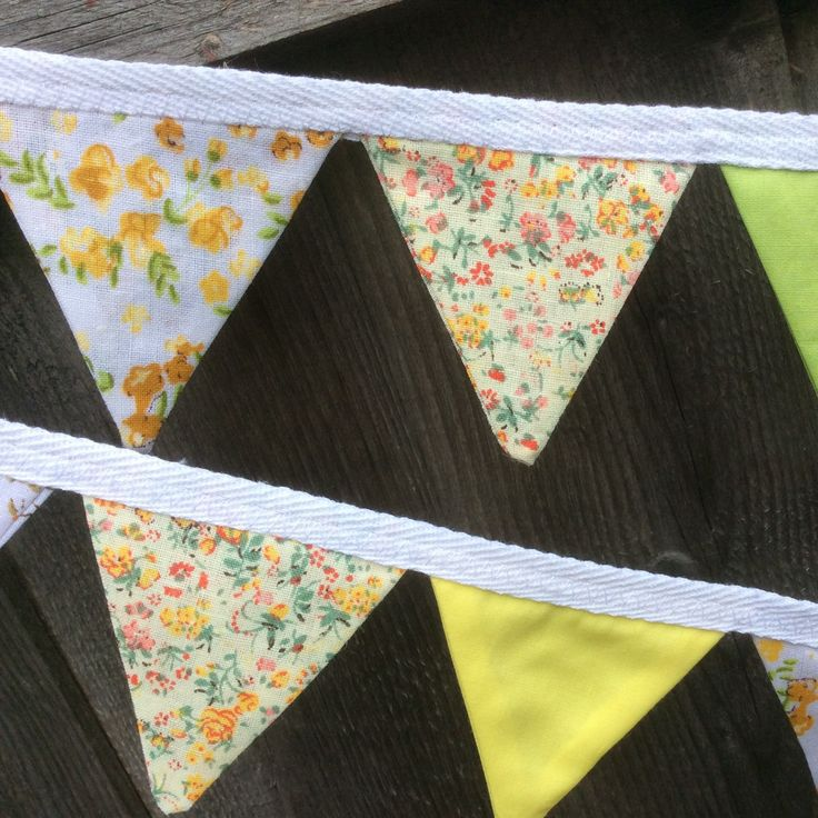 Mini bunting using fabric with mini flower pattern finished and available now!