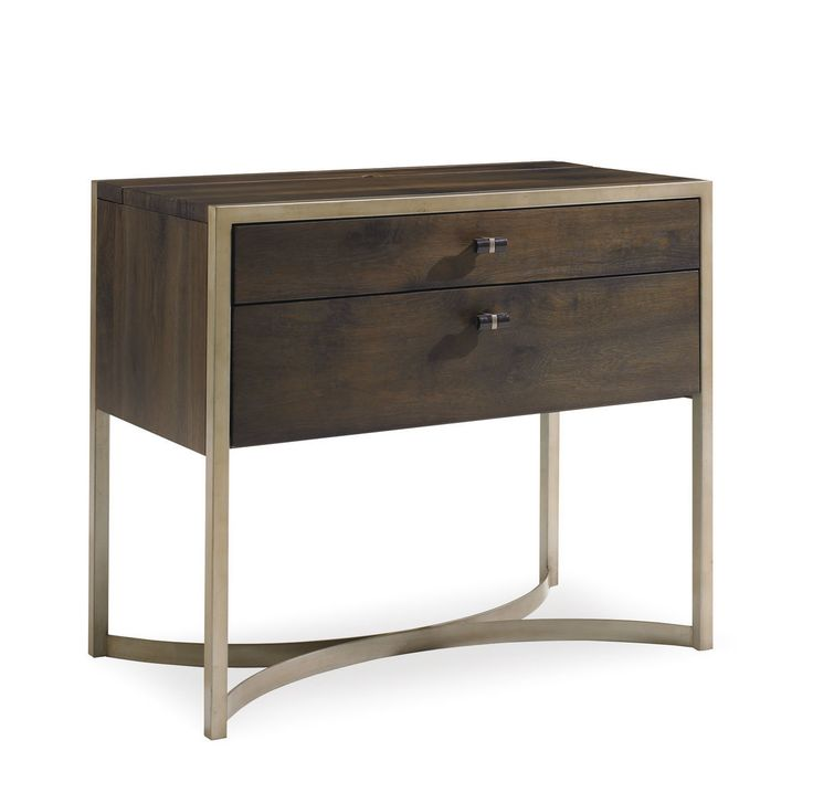 BRASS MODERN NIGHTSTAND | Made of wood and brass, the seductive movement of the legs is amazing and makes this piece a statement of modern and bold design | #luxuryfurniture #interiordesign #masterbedroomideas For more inspirational news take a look at: www.bocadolobo.com