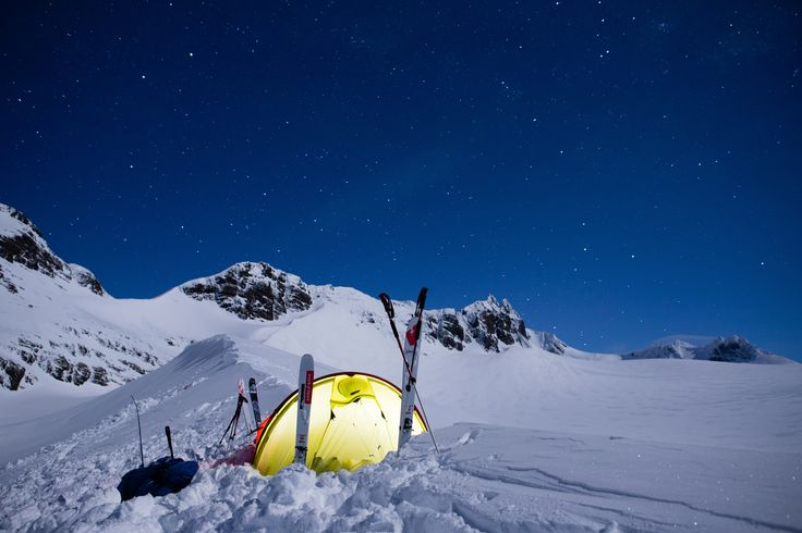The tent Patagonia located in South Georgia.   Photo: Baffin Babes #Helsport #tent #Patagonia