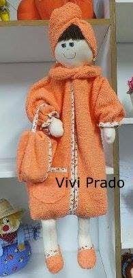 Molde Boneca Porta Papel Higiênico by Vivi Prado