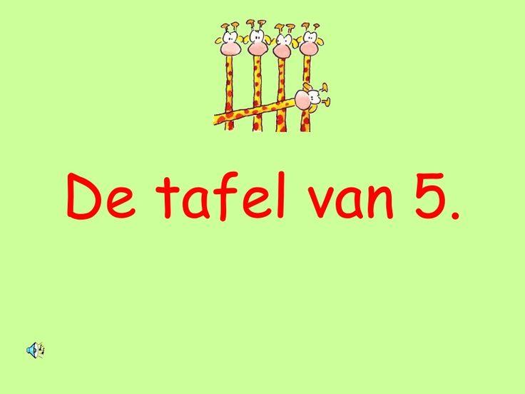 tafel-van-5 by jufIda via Slideshare
