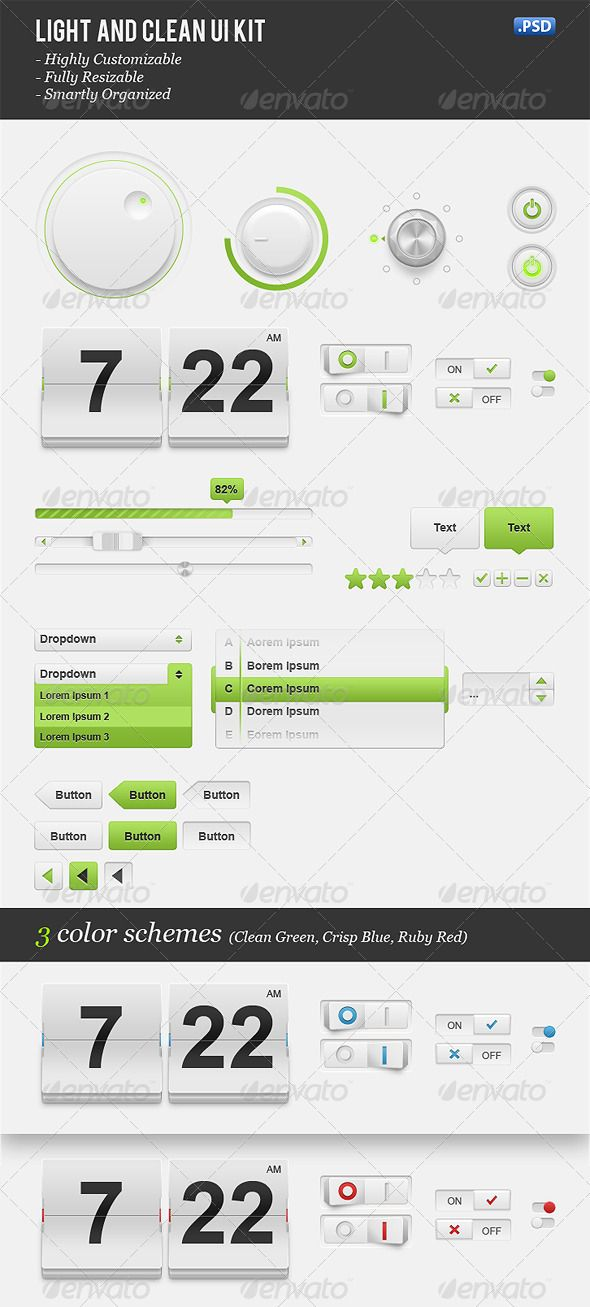 Light & Clean User Interface Kit