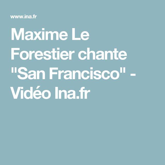 """Maxime Le Forestier chante """"San Francisco"""" - Vidéo Ina.fr"""