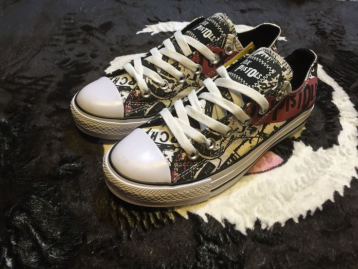 #converse CONVERSE X SEX PISTOLS cooperation limited section low to help canvas shoes 151195C 35-447