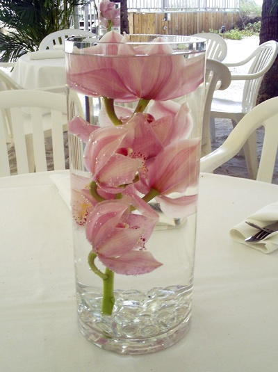 17 best images about cylinder vase arrangements rent for Fish wedding centerpieces