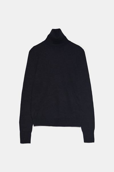 Sweater made of wool blend fabric. High collar and long sleeves. Estilo Dark, Estilo Preppy, Sweater Making, Zara United States, Zara Women, High Collar, Color Negra, Green And Grey, Wool Blend