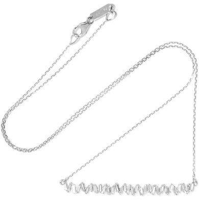 Suzanne Kalan - 18-karat White Gold Diamond Necklace - one size