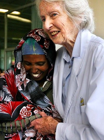Dr Catherine Hamlin is an Australian surgeon and practitioner who opened the Addis Ababa Fistula Hospital in 1974. She has treated more than 35,000 women suffering from obstretric fistula, which can occur during severe or failed childbirth. Dr. Hamlin, who celebrated her 90th birthday this year, has been nominated for the 2014 Nobel Peace Prize.