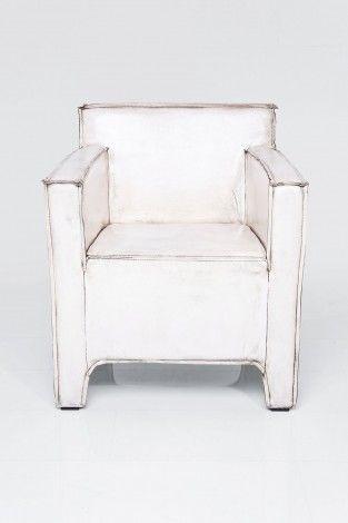 Arm Chair Cube Buffalo White