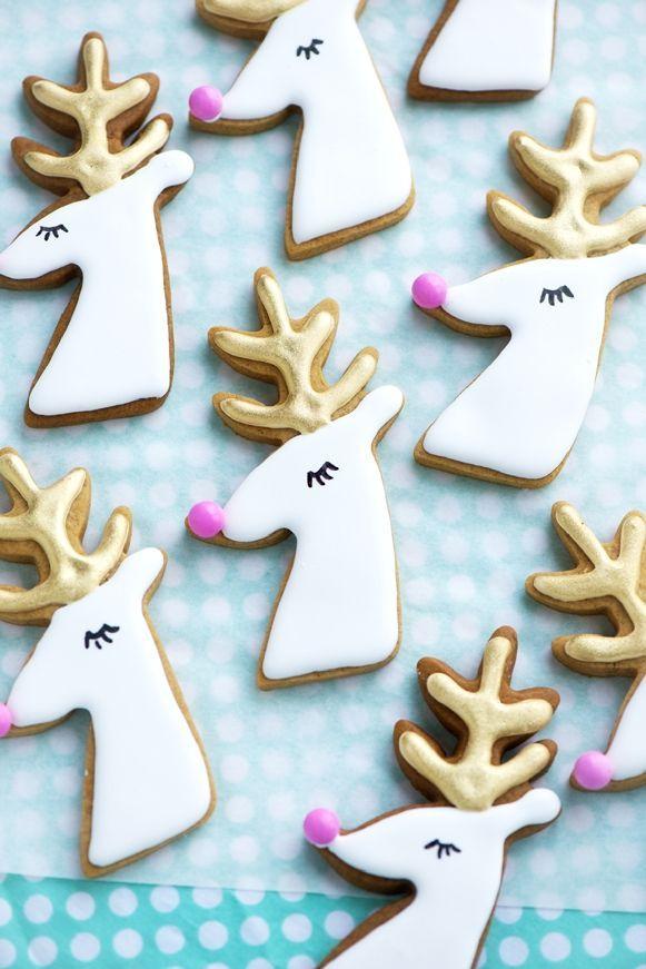 Gilded Reindeer Cookies December- Christmas Party*…