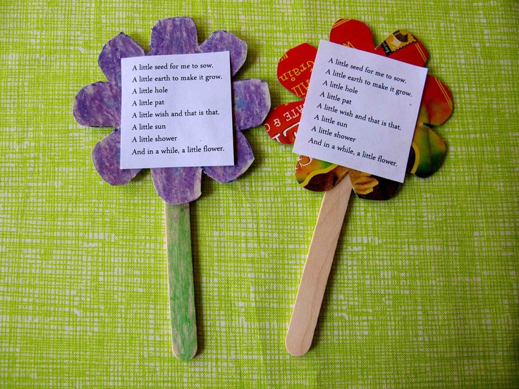 """idea for popsicle stick craft """"Poetry in Nature"""""""