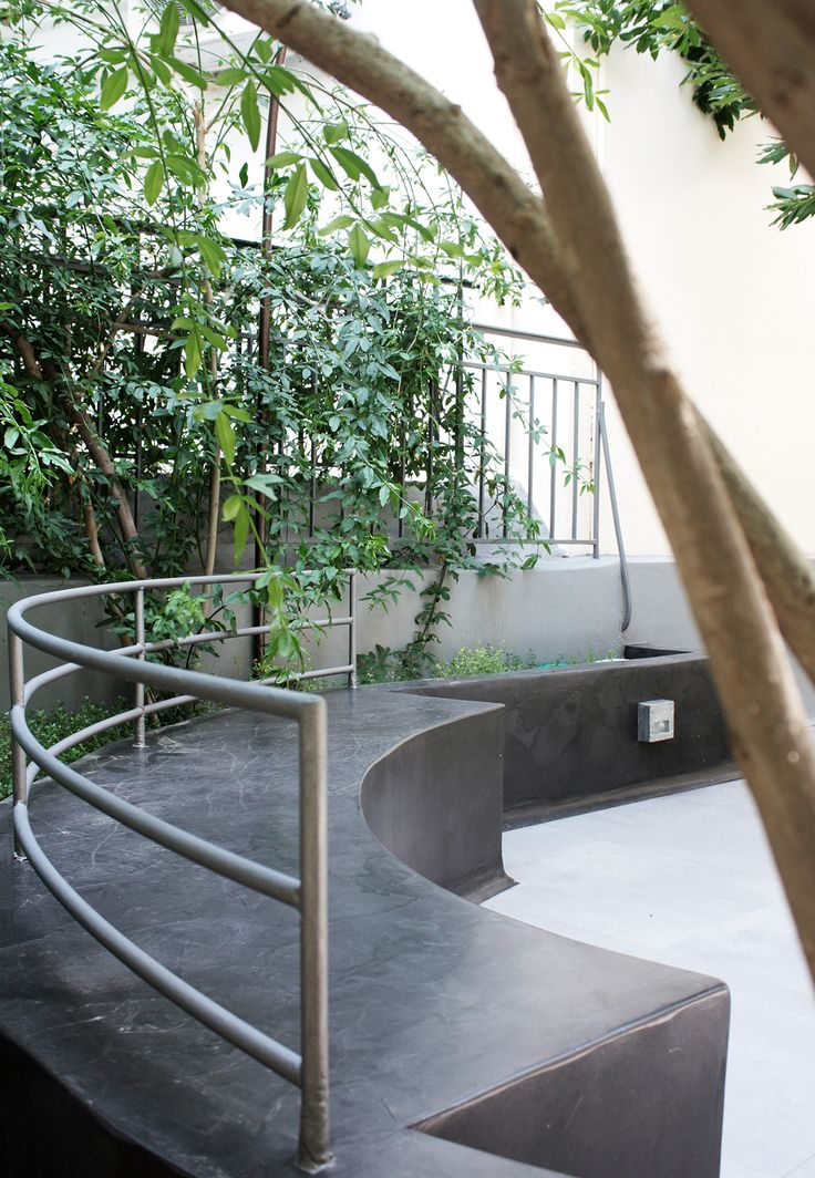 "Main lounge & entrance. Check our project ""Idea, design and construction of patio and garden."" @Behance #patio #landscapedesign #plants #Architecture #lighting #gardening #gardendesign #landscaping #prolat #prolatlavaplaster #lavaplaster #outdoorlighting #lounge #builtlounge"