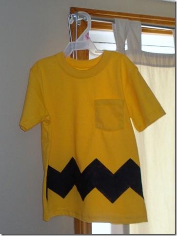 Charlie Brown shirt with freezer paper stencil