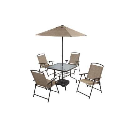 7 Piece Folding Sling Patio Dining Set Dt 240124e At The