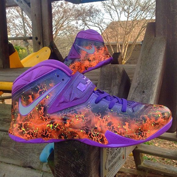 """Nike LeBron Zoom Soldier """"Scorched"""" Custom by Kickasso"""