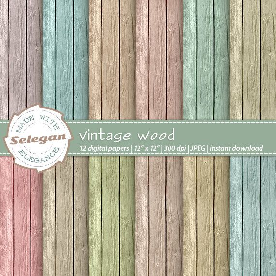 Vintage Wood Digital Paper Scrapbook Paper 12x12 Etsy Digital Scrapbook Paper Digital Paper Scrapbook Paper