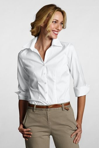 1000 images about white shirts on pinterest classic for No iron white shirt womens