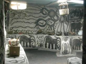 Jason's inner house with Khovar comib cutting decorations