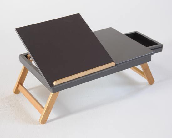 Laptop tray with drawer - futon company