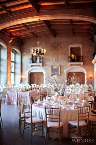 Pretty soft pink and gold #wedding at The Fairmont Banff Springs Hotel | Photography By: C.J. Scott Photography #FairmontWeddings