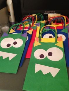 DIY -Monster Party Favor Bags & Other Monster Party Tutorials!!! The Photographer's Wife