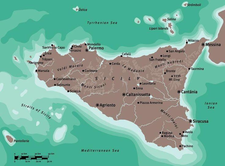 Sicily map for Conran Octopus