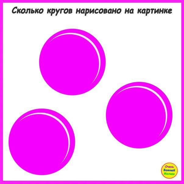 Сколько кругов на картинке ответ