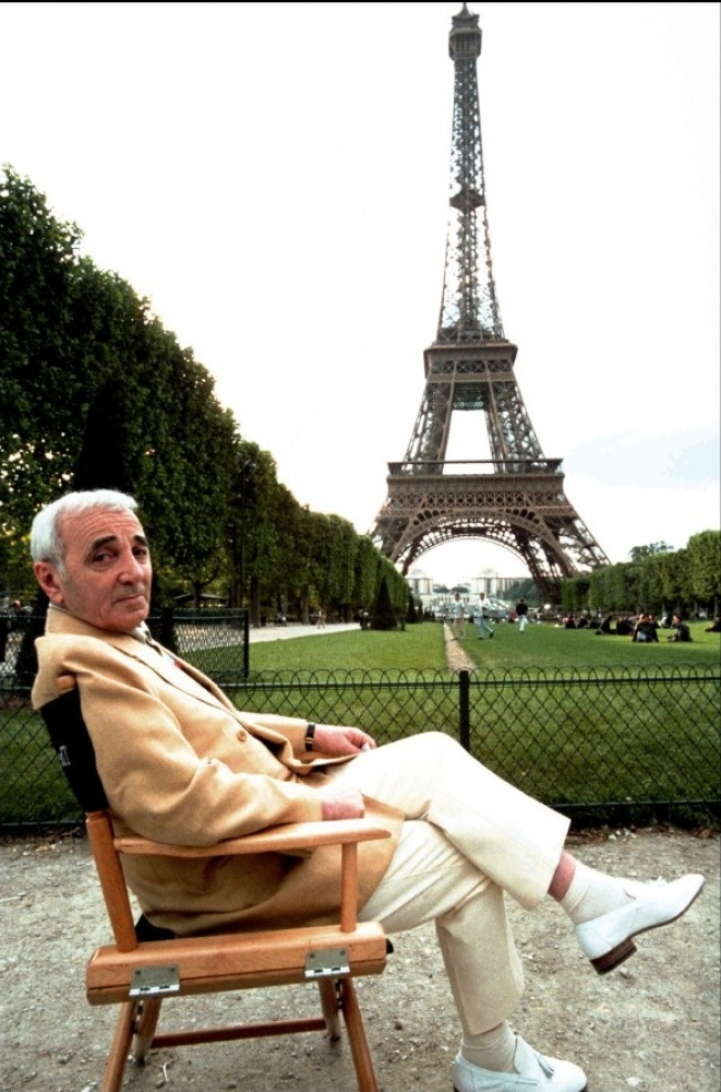 Charles Aznavour- He's Armenian and known as the French Frank Sinatra.