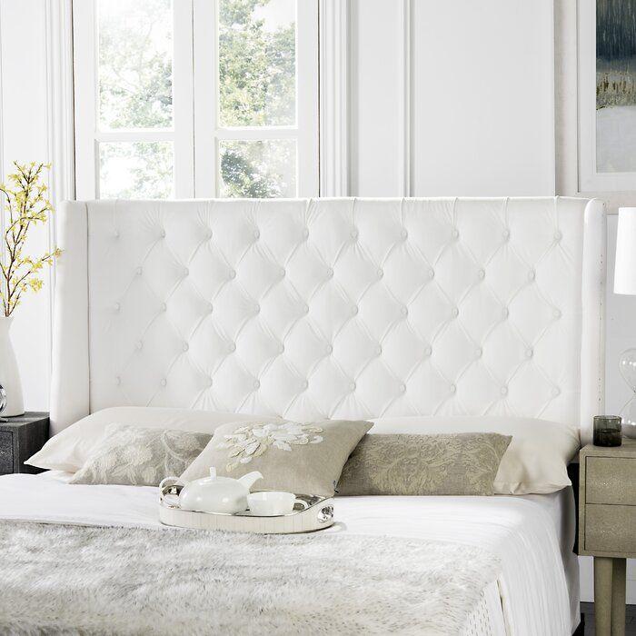 Deeanna Upholstered Panel Headboard White Headboard Upholstered