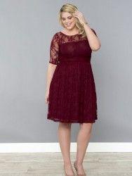 Mangolino Dress - MANGOLİNO DRESS MD7001 Dantelli Büyük Beden Elbise