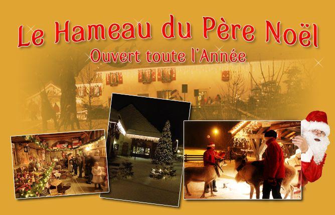 The North Pole and Santa Clause at Le Hameau du Père Noël