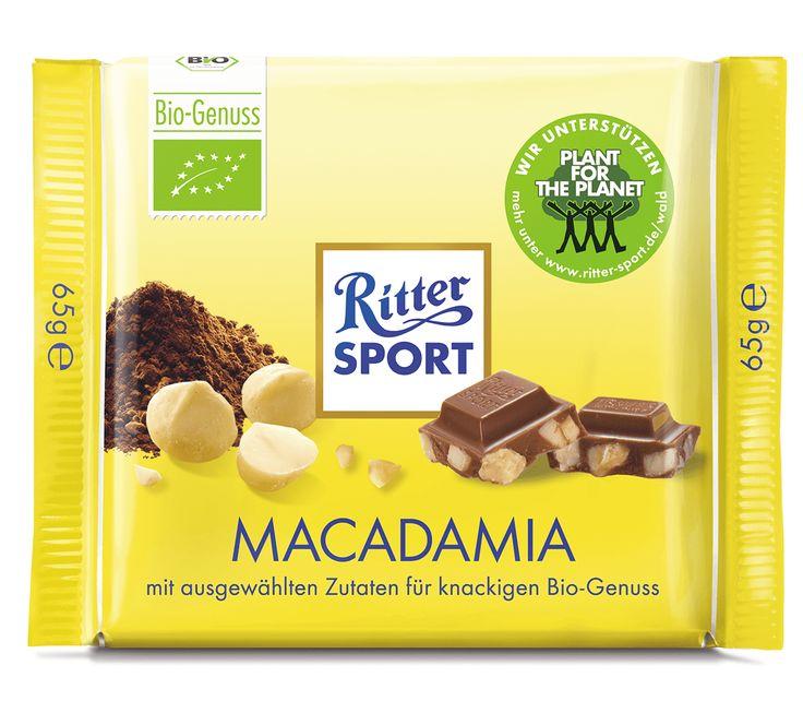 RITTER SPORT Bio Macadamia Schokolade