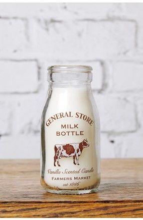 Milk Bottle Vanilla Candle