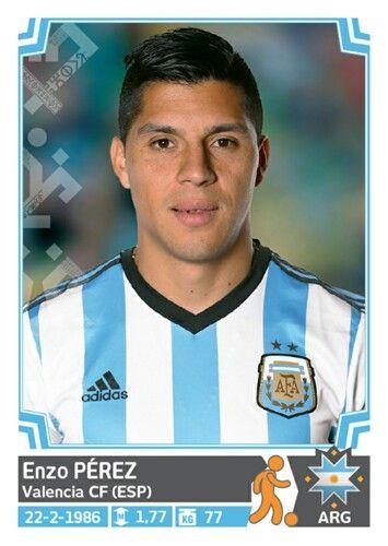 128 Enzo Pérez - Argentina - Copa America Chile 2015 - PANINI