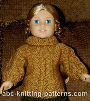 American Girl doll aran jumper knitting pattern :-)