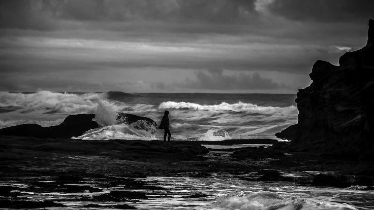 Stormy Brenton beach