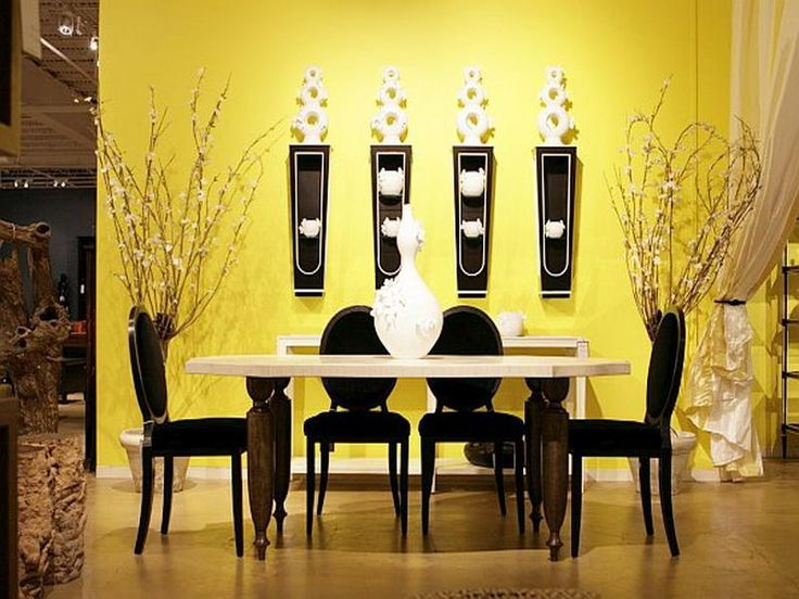 Decoration Yellow Walls Dining Room Bright Wall Color Ideas For Getting