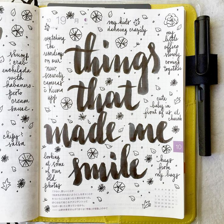 journal page idea... things that made me smile Like and Repin. Thx Noelito Flow. http://www.instagram.com/noelitoflow