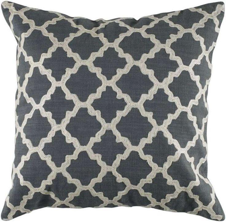 Keyes Decorative Pillow CharcoalWhite modern