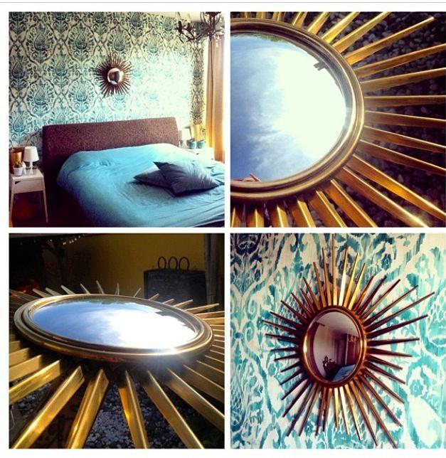 Bedroom sunburst mirror zonnespiegel