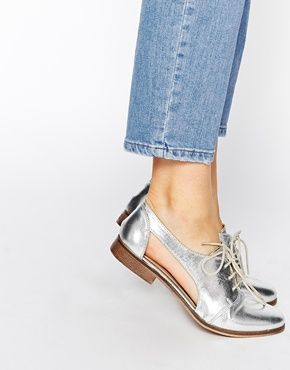 $54 ASOS MIGHT YOU Cut Out Leather Jazz Shoes