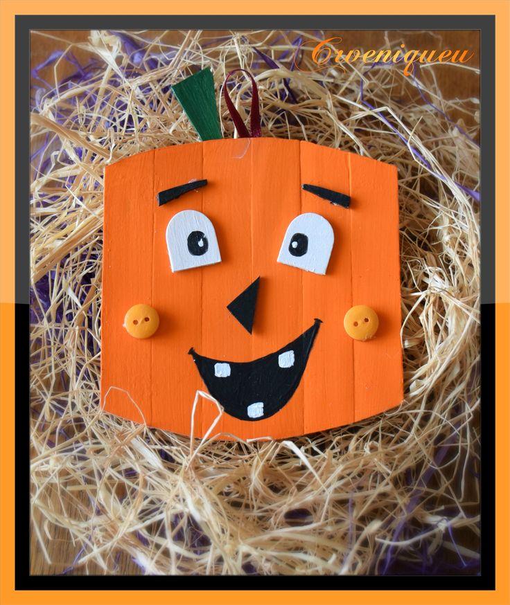 """Halloween, """"Jack-o'-lantern"""", Pumpkin, school, iskola, """"töklámpás"""", spatula, akril"""