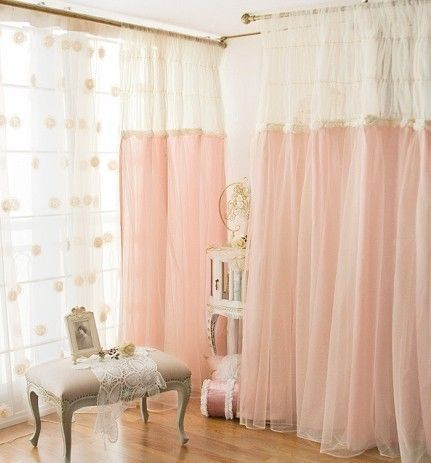 Housekeeping Wife Korean Household Imports Romantic Bedroom Decoration Window Screen Cut Off The Living Room Curtains Zzkko