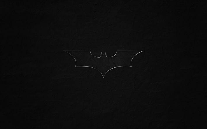 Descargar fondos de pantalla Batman, superhéroe, logotipo, grunge