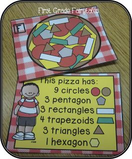 cute ideas/links to products $ for shape practice. Could extend to fractions for upper grades!