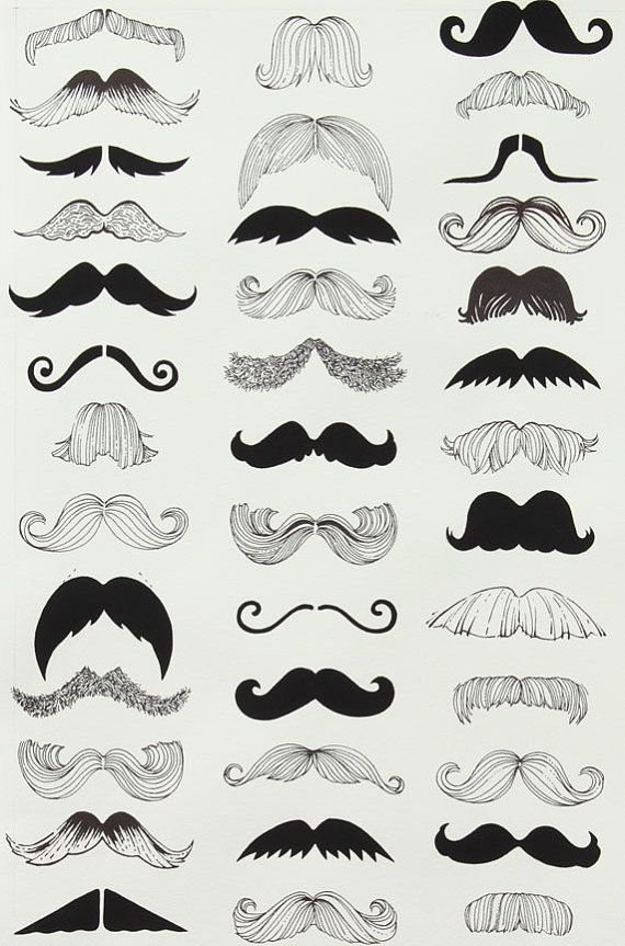 Alexander Henry where's my 'stache by SewPerfectlyVintage on Etsy, $10.50