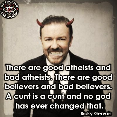 I think the difference is religion gives believers motivation to harm others.